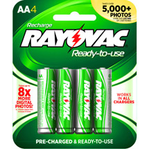 Rayovac Pre-charged Rechargeable NiMH AA Batteries