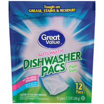 Great Value Automatic Fresh Scent Dishwasher Pacs