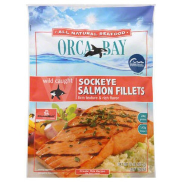 Orca Bay Seafoods Wild Caught Sockeye Salmon Fillets