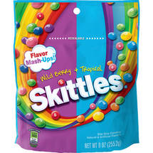 Skittles Flavor Mash-Ups! Wild Berry + Tropical Bite Size Candies