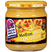 Taco Bell Home Originals Salsa Con Queso Medium Cheese Dip