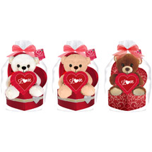 Valentine Stuffed Animal & Chocolates Gift Set