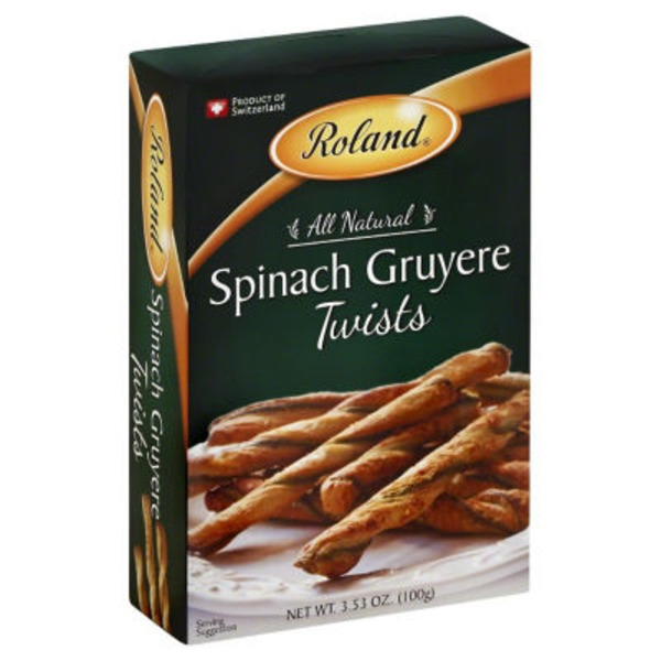 Roland Puff Pastry Crisps Spinach Gruyere Twists