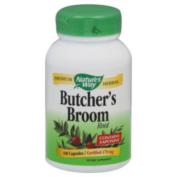 Nature's Way Butcher's Broom Root 470mg Capsules - 100 CT