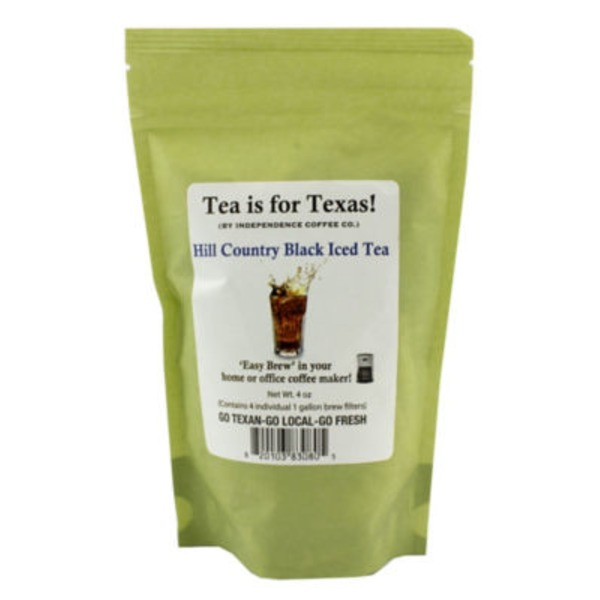 Independence Coffee Co Tea Is For Texas Hill Country Black Iced Tea Bags