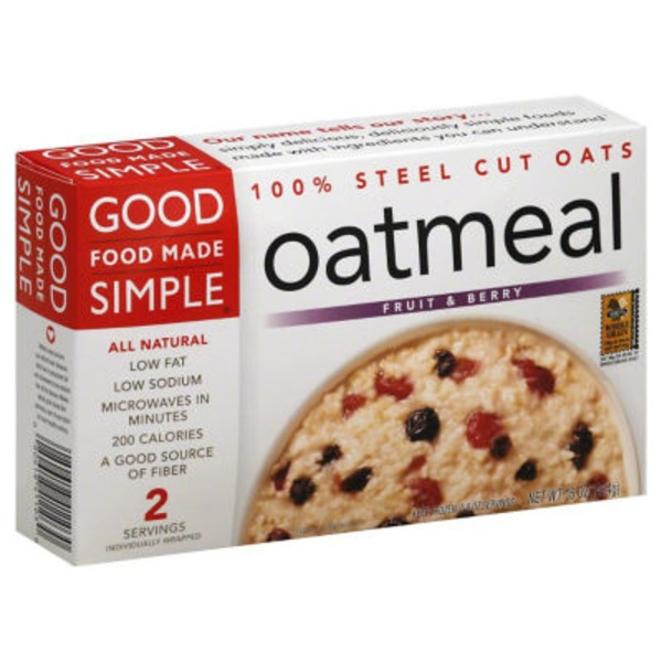 Good Food Made Simple Oatmeal Fruit & Berries