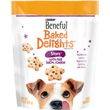 Beneful Treats Baked Delights Stars with Bacon and Cheese Dog Snacks