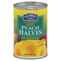Hill Country Fare Light Yellow Cling Peach Halves In Natural Juice