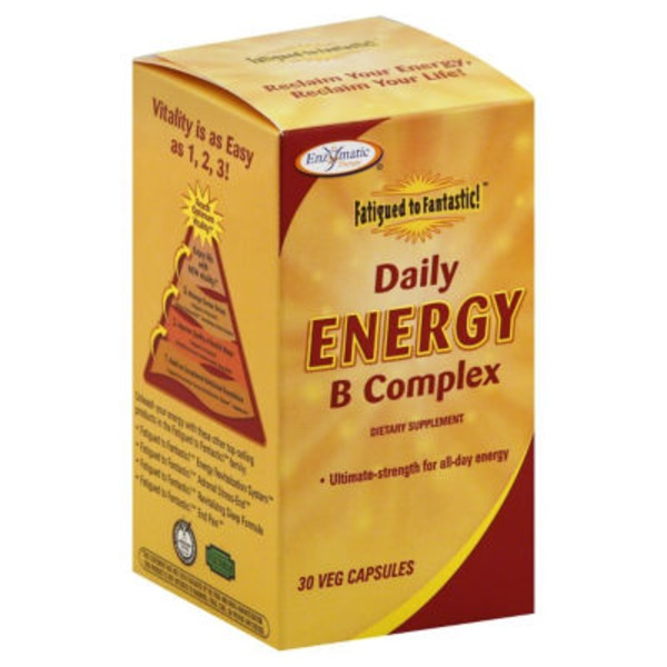Enzymatic Therapy B Complex, Daily Energy, Veg Capsules