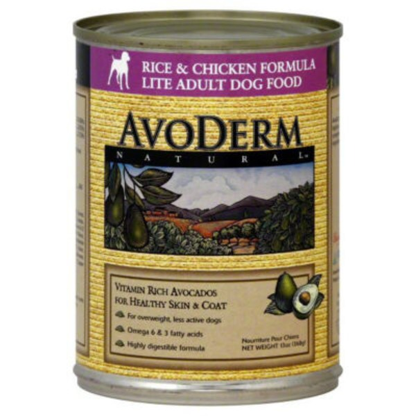 AvoDerm Natural Rice & Chicken Formula Weight Control Canned Dog Food