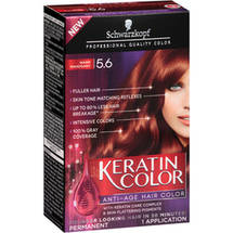 Schwarzkopf Keratin Color Anti-Age Hair Color Kit 5.6 Warm Mahogany