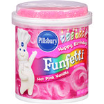 Pillsbury Happy Birthday Funfetti Hot Pink Vanilla Frosting