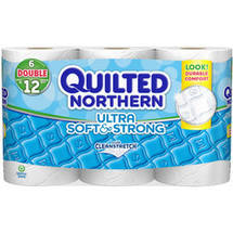 Quilted Northern Ultra Soft & Strong Toilet Paper 6 Double Rolls Bath Tissue