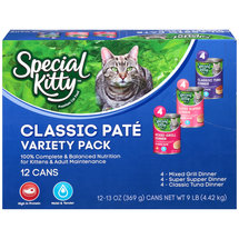 Special Kitty Premium Classic Pate Variety Pack Cat Food
