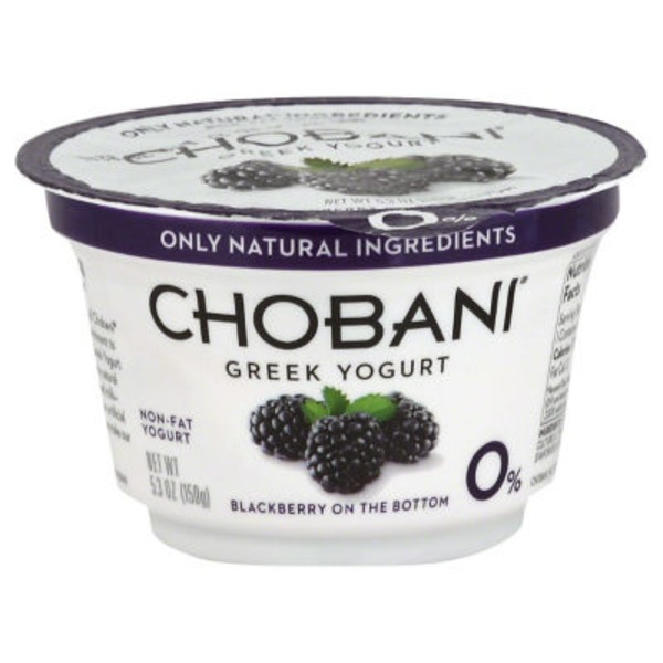 Chobani Blackberry on the Bottom Non-Fat Greek Yogurt