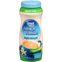 Great Value Sugar Free French Vanilla Coffee Creamer
