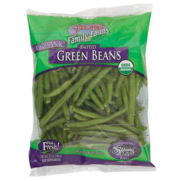 Pero Family Farms. Organic Snipped Green Beans
