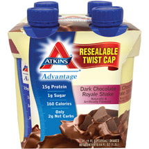 Atkins Advantage Dark Chocolate Royale Shake 4 pk