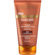 L'oreal Paris Tinted Deep Natural Tan Body Expertise Sublime Bronze Self-Tanning Lotion