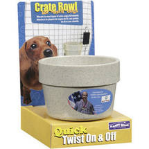 Happy Home Pet Products Crate Bowl For Small Dogs
