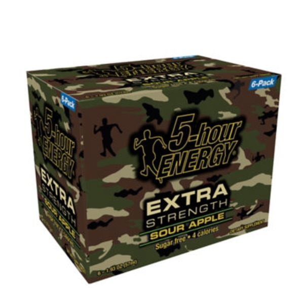 5-Hour Energy Extra Strength Sour Apple - 6 CT
