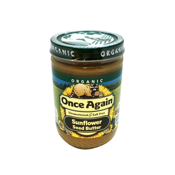 Once Again Organic  Unsweetened & Salt Free Sunflower Seed Butter