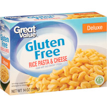 Great Value Deluxe Gluten Free Rice Pasta & Cheese Sauce