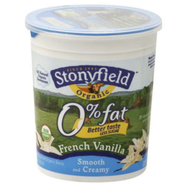 Stonyfield Organic Organic Smooth & Creamy Fat Free French Vanilla Yogurt