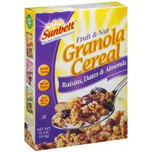 Sunbelt Fruit & Nut w/Raisins Dates & Almonds Granola Cereal