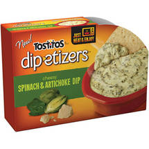 Tostitos Dip-etizers Cheesy Spinach and Artichoke Dip