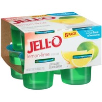 Jell O Ready To Eat Sugar Free Lemon-Lime Low Calorie Gelatin Snacks