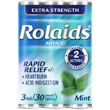 Rolaids Extra Strength Antacid Mint Chewable Antacid Tablets (Pack of 3)