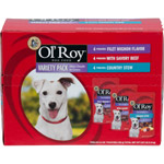 Ol Roy Gourmet Multi Pack Dog Food