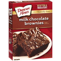 Duncan Hines Family-Style Milk Chocolate Brownies