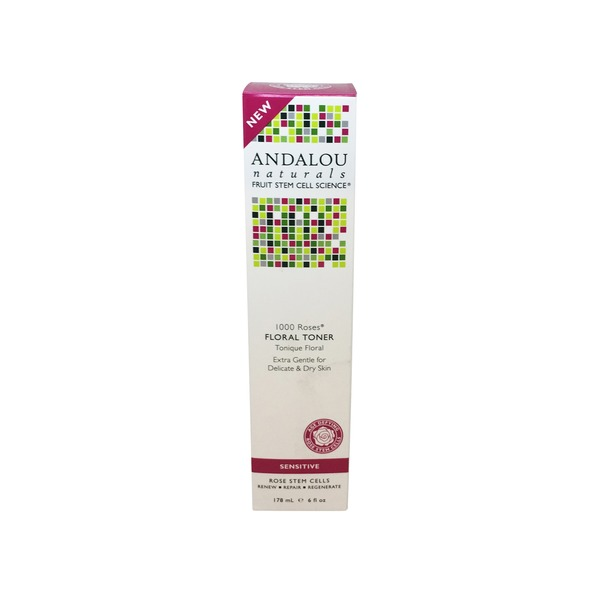 Andalou Naturals 1000 Roses Floral Toner for Sensitive Skin