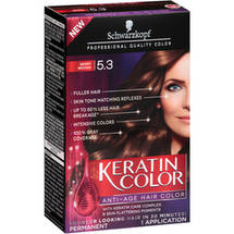 Schwarzkopf Keratin Color Anti-Age Hair Color Kit 5.3 Berry Brown