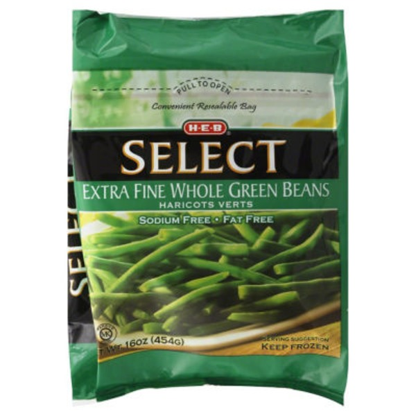 H-E-B Extra Fine Whole Green Beans