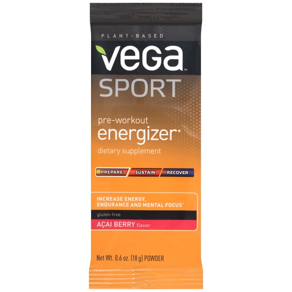 Vega Sport Pre-Workout Energizer Acai Berry Dietary Supplement