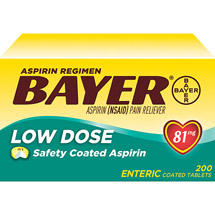 Bayer Low Dose Aspirin Enteric Coated Tablets
