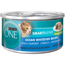 Purina ONE SmartBlend Wet Premium Cat Food Ocean Whitefish Premium Pate Recipe