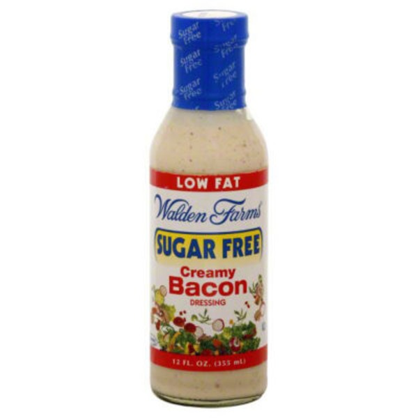 Walden Farms Dressing, Salad, Creamy Bacon, Sugar Free, Bottle