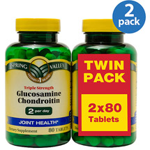 Spring Valley Triple Strength Glucosamine Chondroitin Tablets