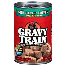 Gravy Train Chunks in Gravy with Chicken Chunks Wet Dog Food 22-Ounce Can