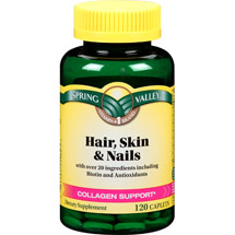Spring Valley Hair Skin & Nails Caplets