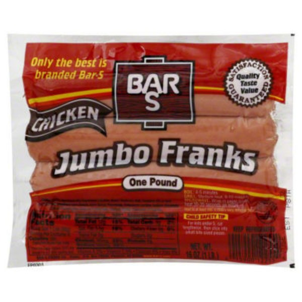 Bar S Chicken Jumbo Franks