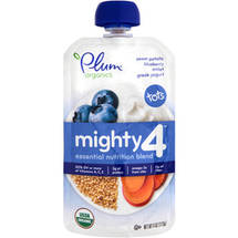Plum Organics Mighty 4 Sweet Potato Blueberry Millet Greek Yogurt Essential Nutrition Blend Snack