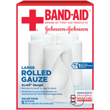 Band-Aid Sterile Rolled Gauze Large