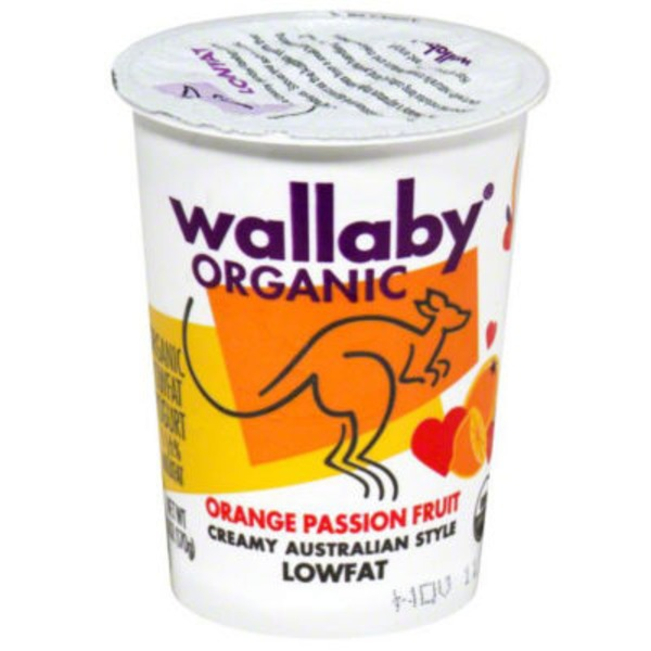 Wallaby Organic Organic Orange Passion Fruit Lowfat Yogurt