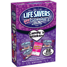 Lifesavers Wild Berries Gummies Big Rings Fun Size Candy 'n Stickers