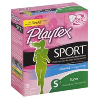 Playtex Sport Unscented Super Absorbency Tampons